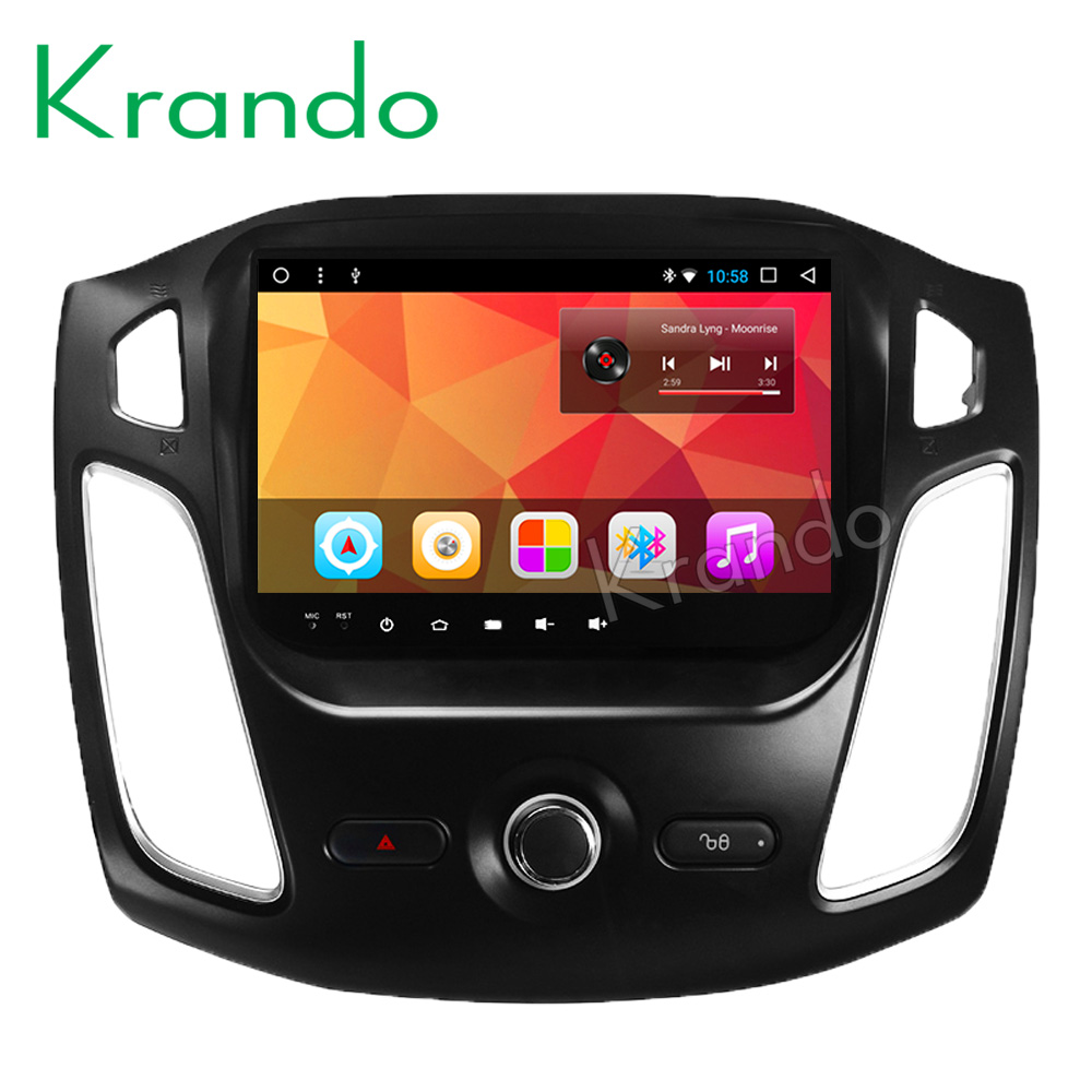 "Krando Android 8.1 10.1"" IPS Full touch car Multmedia player audio player for Ford Focus 2012- 2015 gps navigation system"