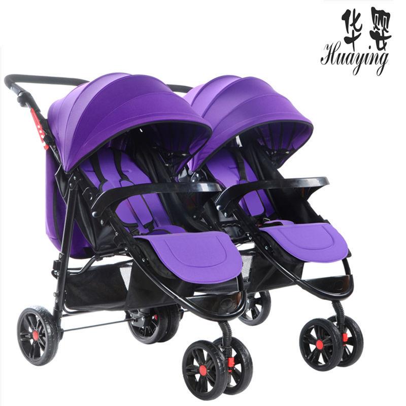 Twin stroller Double stroller can sit reclining folding doubles Newborn strollerTwin stroller Double stroller can sit reclining folding doubles Newborn stroller