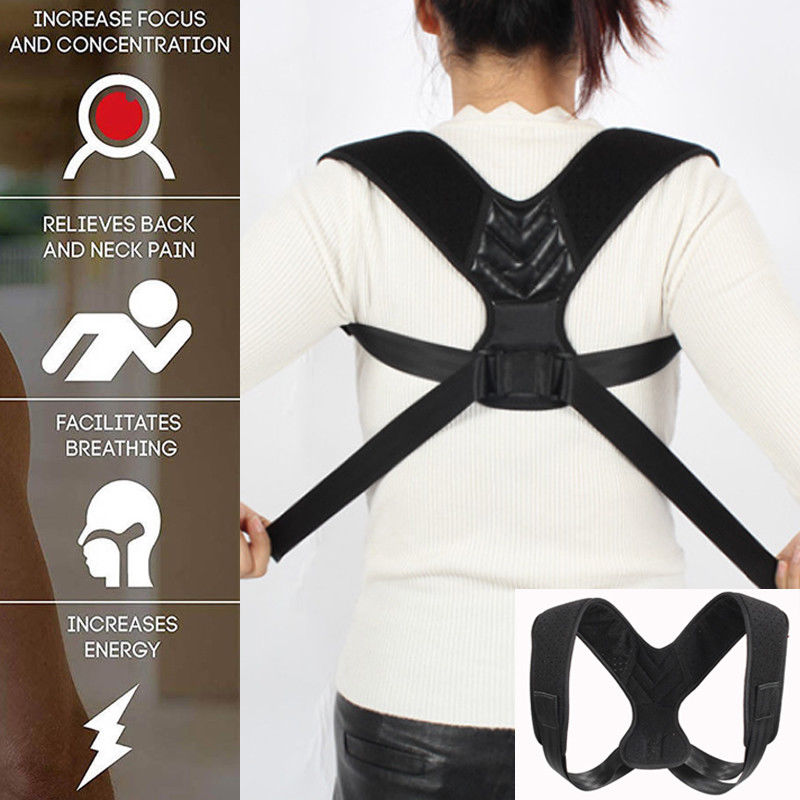 Men Women Body Posture Clavicle Support Corrector Back Shoulders Belt Strap Posture Corrector Brace Belt