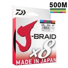 DAIWA 8 Örgülü olta Uzunluk: 500 m/550yds, 30 80lb, Çap: 0.2mm 0.35mm Japonya PE örgülü hattı J Örgü Hattı DENIZ BALıKÇıLıĞı