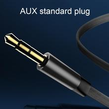 1m Telescopic Car Aux Audio Cable 3.5mm Male To Male Double Headphone Cable Special Car Audio Speaker Black White Adapter 3 5mm male to male audio connection nylon cable purple black white 1m