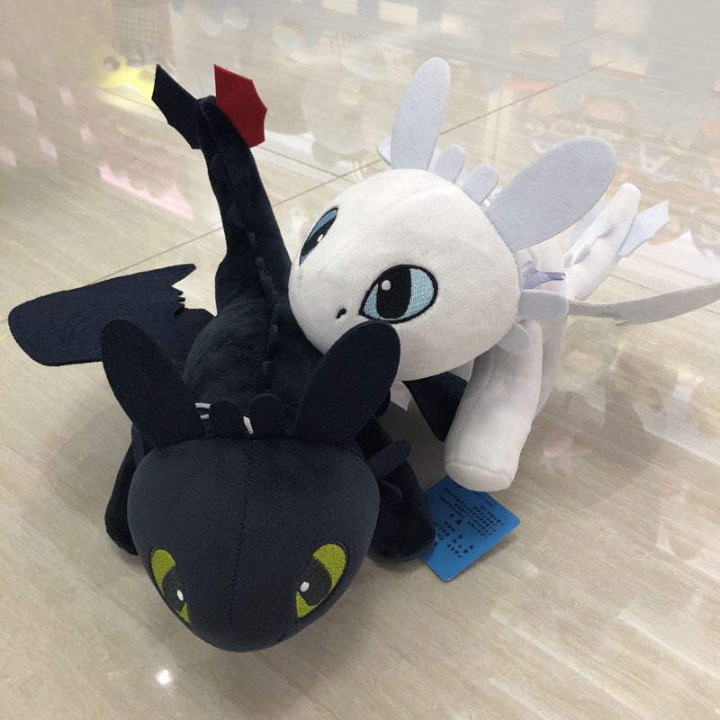 Hot style 25cm How to Train Your Dragon 3 plush Toys Toothless light Fury Anime Figure Night Fury Dragon Plush Doll Toy ChildrenHot style 25cm How to Train Your Dragon 3 plush Toys Toothless light Fury Anime Figure Night Fury Dragon Plush Doll Toy Children