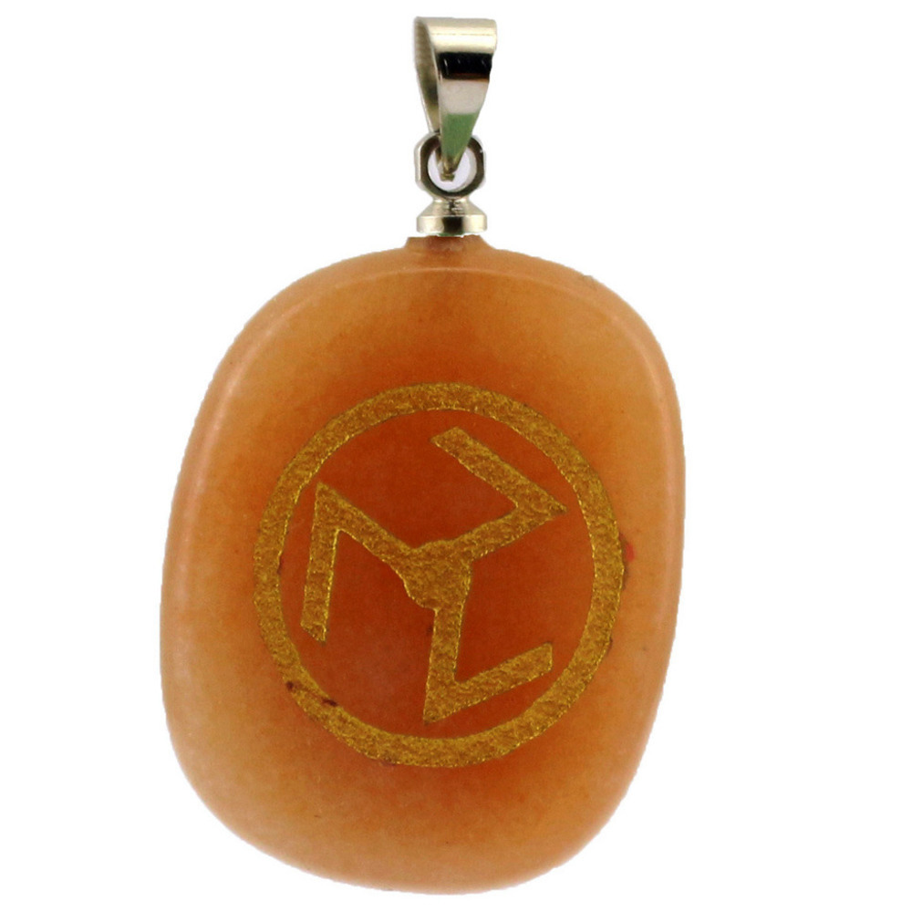 2019 Rushed New Copper Women Collares Moana Choker Antahkarana Reiki Rune Symbol Healing Energy Natural Crystal Pendant in Pendant Necklaces from Jewelry Accessories