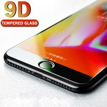9D Protective Glass For IPhone 6 6S 7 8 Plus Glass On For Iphone 7 6 8 X XR XS MAX Full Screen Protector Glass Screen Protection(China)