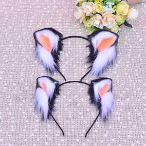 Image 5 - Yeni kedi kulaklar saç çember saç tokası kız saç aksesuarları kafa bandı kadınlar için scrunchie geyik kulaklar saç fiyonkları el işi
