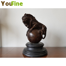 YOUFINE American pure copper sculpture lion home interior decoration bronze ornaments high-end home decorations american interior