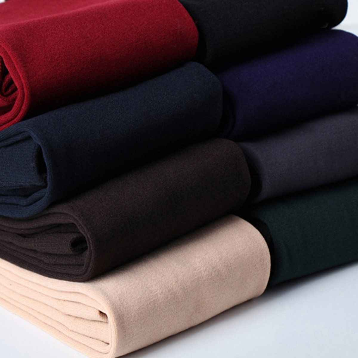 Hot Sale Wanita Panas Musim Dingin Hangat Tebal Bulu Berjajar Kurus Slim Legging Peregangan Celana
