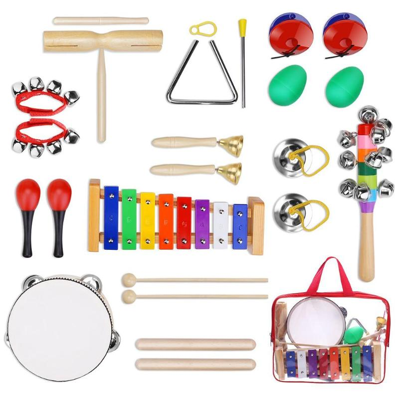 12pcs Percussion Drum Instrument Set Kids Early Education Musical Toys Music Teaching Tools Teaching Resources Dropshipping