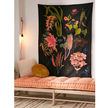 Loartee Delicate Flower Art Tapestry Color Prism Bohemian Home Wall Cloth Decoration Curtain Throw