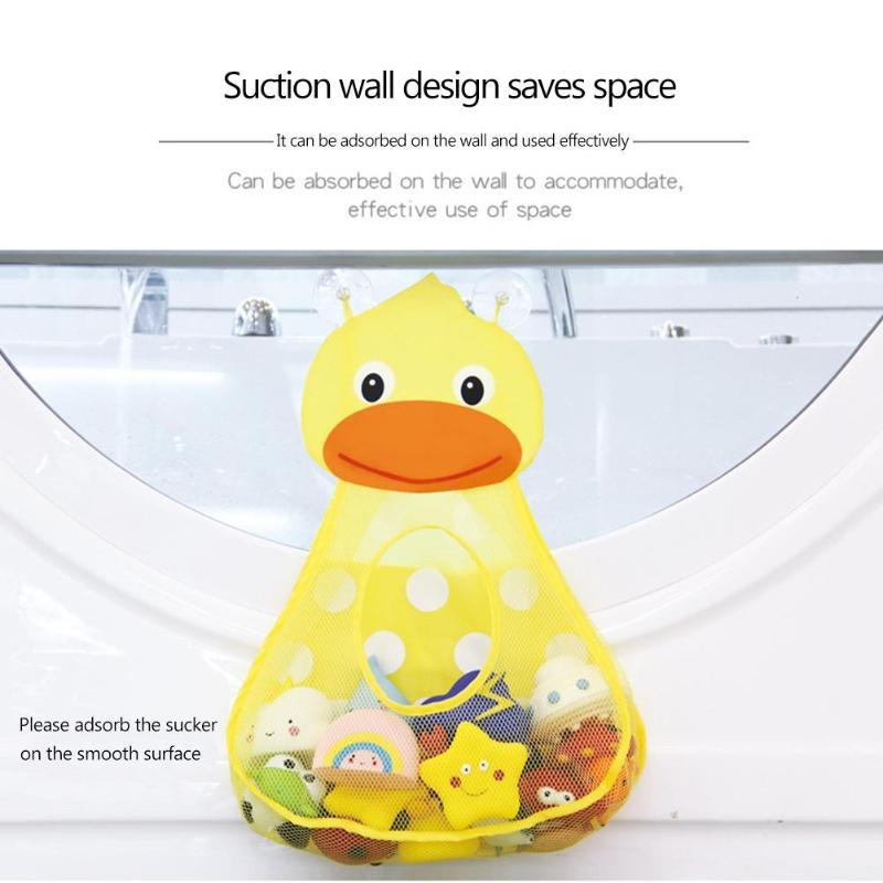 1 Pc Baby Bad Tier Spielzeug Mesh Net Organizer Cartoon Spielzeug Lagerung Mit Starke Saugnäpfe Lagerung Tasche Bad Veranstalter