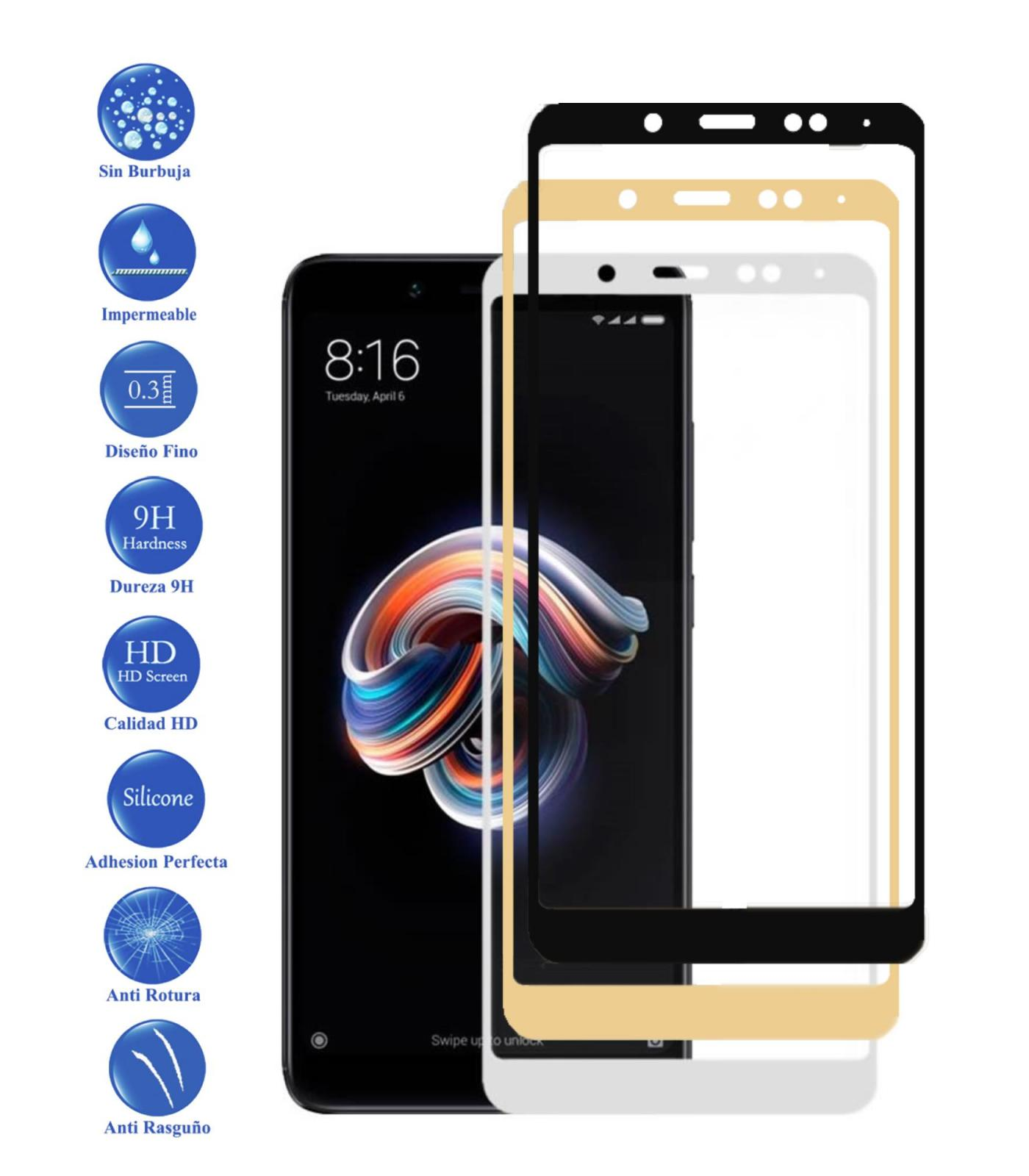 Tempered Glass Protector Full 9 H For Xiaomi Note Redmi 5 Choose Color