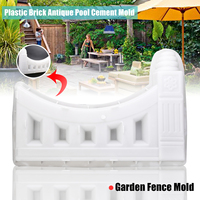New Garden Mold Fence Hollow Plastic Enclosure Brick Antique Pool Cement Mold 61*41*6cm Flower Pool White Concrete Molds