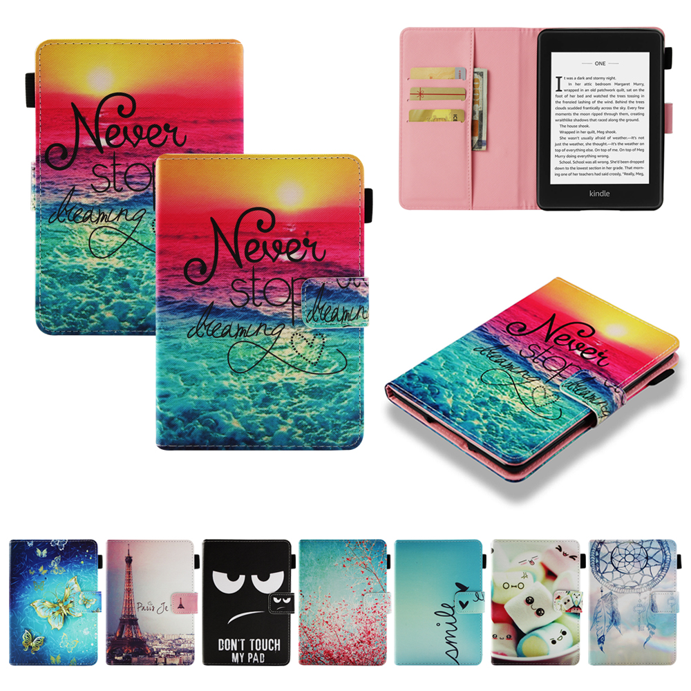 Cover For Amazon Kindle Paperwhite 1 2 3 4 2015 6th Case 2012 2013 2015 2018 for Kindle Paperwhite 6inch Funda Tablet Sleep&Wake