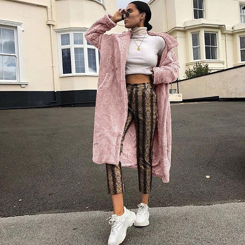 Зимние Для женщин пальто Теплый плюш ворсистый флис шубы Для женщин пальто с длинными рукавами, жакет, женский пиджак женские куртки кардиганы свободные топы