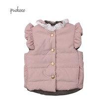 Pudcoco/Новинка года; Брендовое милое зимнее пальто для маленьких девочек; куртка; жилет без рукавов; верхняя одежда; 0-4T