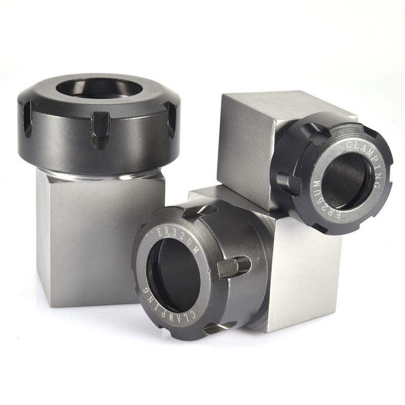 1pc Square ER25/ ER32/ ER40 Collet Chuck Block Holder For CNC Lathe Engraving Machine Cross Hole Drilling