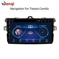 9 дюймов Android 8,1 автомобильный dvd gps навигация для toyota corolla 2007 2013 с Bluetooth/tv/wifi/USB/Радио/видео