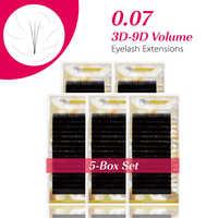 MISS LA MODE 0,07 BCD Curl 5 unids/lote suave pestañas individuales nuevos productos venta caliente extensión de pestañas de volumen de visón