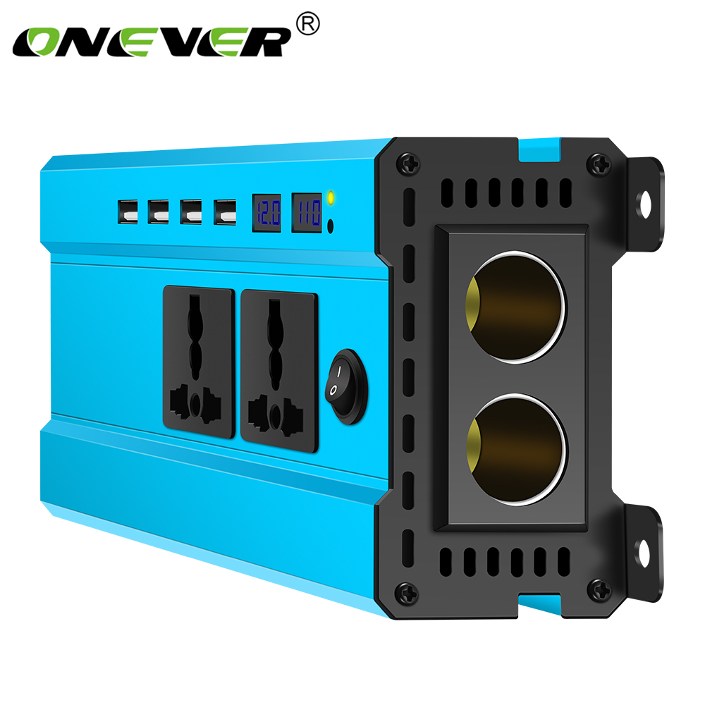 4000W Car Power Inverter Charger DC 12V/24V To AC 220V Sine Wave Converter Interfaces Voltage Transformer Adapter With 4 USB