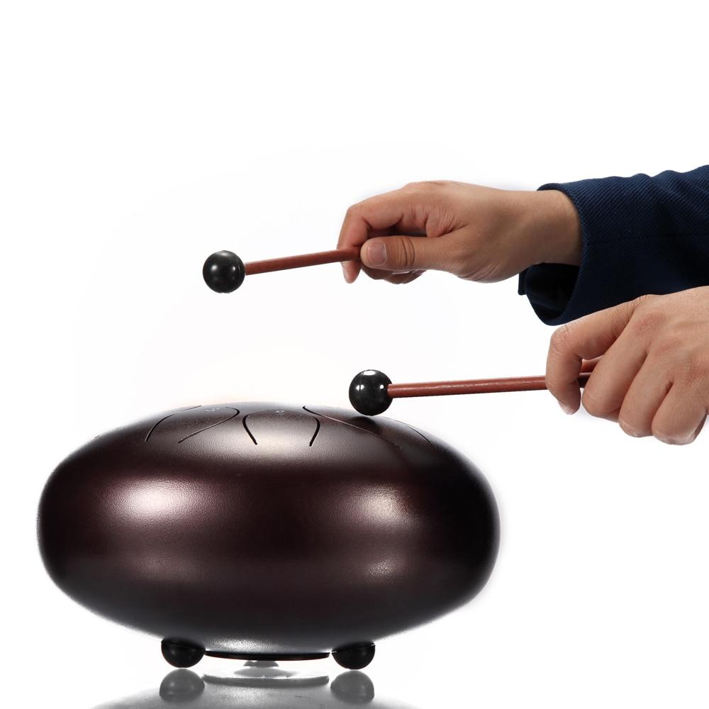 10 pouces 11 Notes acier langue tambour Mini main Pan tambours pilons percussions Instruments de musique purifier votre esprit et votre âme