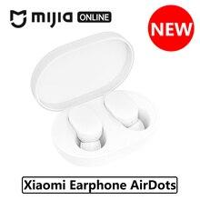 Xiaomi Airdots беспроводные Bluetooth наушники-вкладыши Молодежная версия стерео Бас BT 5,0 с микрофоном Smart AI управление зарядная док-станция коробка