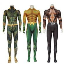 Aquaman Cosplay Costume Adult Arthur Curry Zentai Bodysuit DC Superhero Halloween For