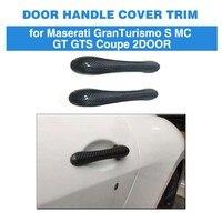 Car Door Handle Covers Trim For Maserati Granturismo S MC GT GTS Coupe 2 Door 2008 2012 Carbon Fiber Stickers