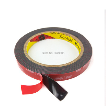 3M VHB 5952-Cinta de montaje de alta resistencia, cinta adhesiva de espuma acrílica de doble cara de 5mm-50mm x 3mm x 1, 1mm, color negro
