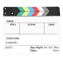 Generic Acrylic Colorful Clapperboard TV Film Movie Slate Cut Role Play Prop Hollywood(China)