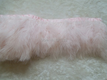 2Yards/lot-Baby Pink/Light Pink Turkey Marabou Feather Trim Fringe for Dress Up Show Christmas Trim,4-6inches height
