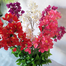 Simulation Bougainvillea 3 Indoor Bouquet Artificial Flowers Hotel Mall Engineering Decoration background Place