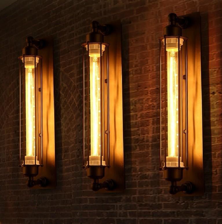 Freeshipping Industrial Vintage Wall Lamp Bra Iron Loft Lamps Bedroom Corridor Aisle Warehouse Restaurant Pub Wall Lamp Sconce