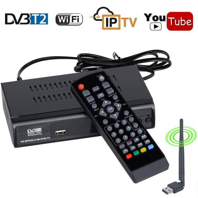 Koqit 1080P Digital DVB-T2 receptor tv tuner dvb t2 HD Convertor Receiver Youtube Iptv m3u Player Terrestrial MPEG4 DVB T TV Box