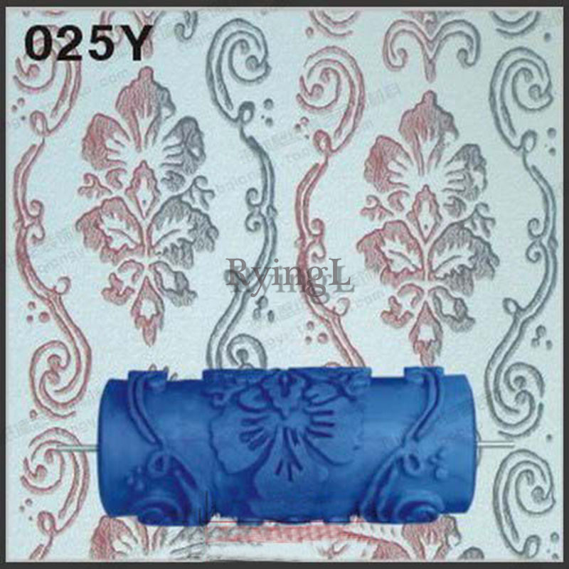 Hot Model Pattern 5inch 3D Rubber Decorative Wall Painting Roller, Wall Pattern Design Roller