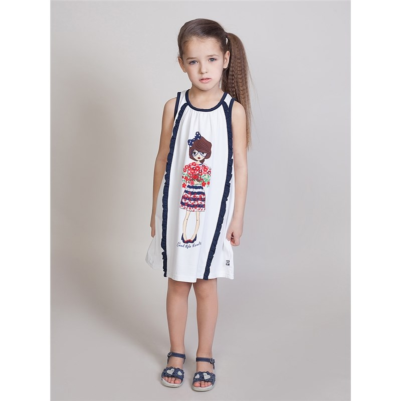 Dresses Sweet Berry Knitted dress for girls children clothing striped knitted flare dress