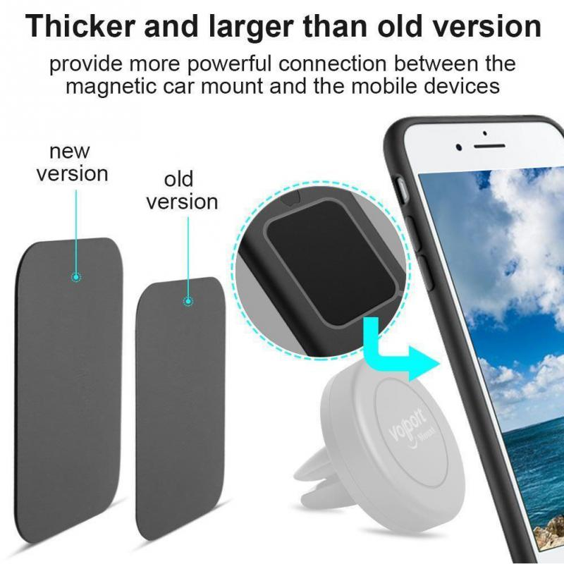 8pcs Metal Plate Pad Sticker Replace For Magnetic Car Magnet Cell Phone Holder