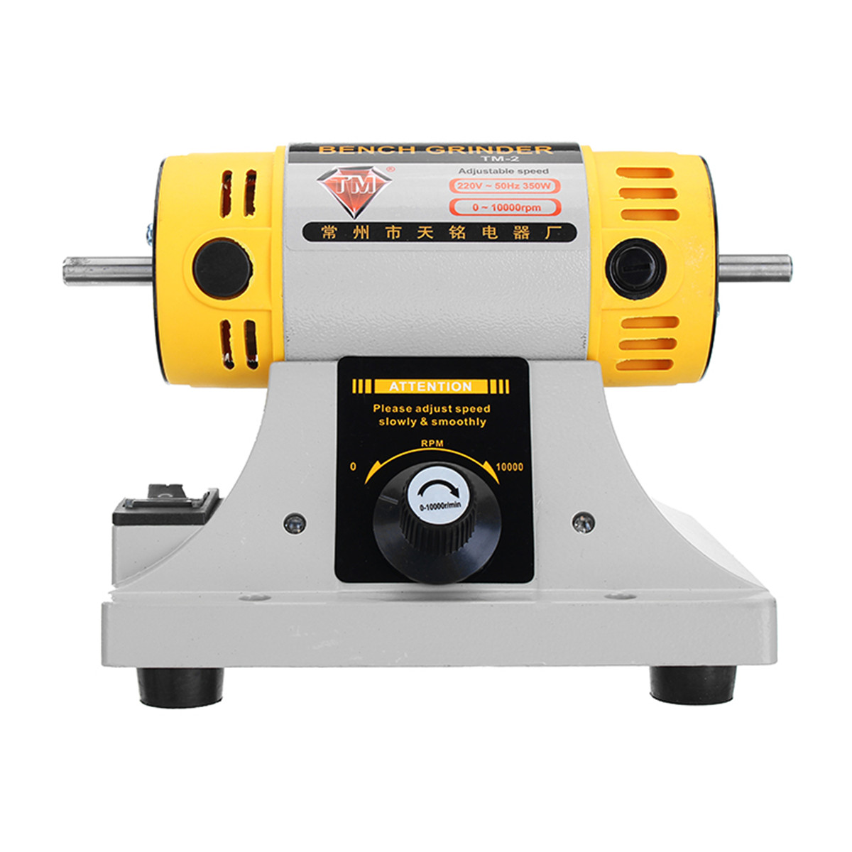 Image 5 - 220V 350W Polishing Machine for Jewelry Dental Bench Lathe Machine Motor Grinder With Accessories-in Polishers from Tools