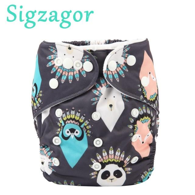43de79312dc1 [Sigzagor] 1 niños dibujo perro casa bebé tela de bolsillo pañales pañal  reutilizable lavable