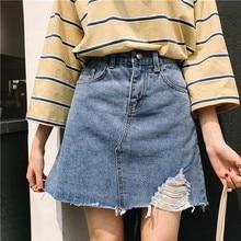 Women Summer Ripped Hole Sexy Jeans Shorts Mini Denim Short Feminino Casual Blue Cowboy Shorts Vintage Plus Size S-5XL