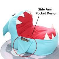Cute Shark Baby Seat Sofas Chair Kids Bean Bag Toddler Nest Puff Seat Children Seat Sofa Toddler Nest Puff Seat Chair No Filler