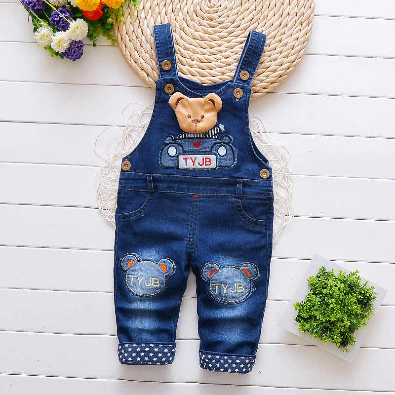 Baby Boys Girls Jeans Jumpsuit 2018 Autumn Kids Clothes Children Denim Overalls Toddler Pants Rompers Salopette Fille Dungarees