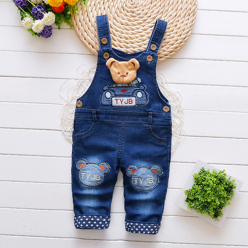 Baby Boys Girls Jeans Jumpsuit 2018 Autumn Kids Clothes Children Denim Overalls Toddler Pants Rompers Salopette Fille Dungarees spring outfits for kids
