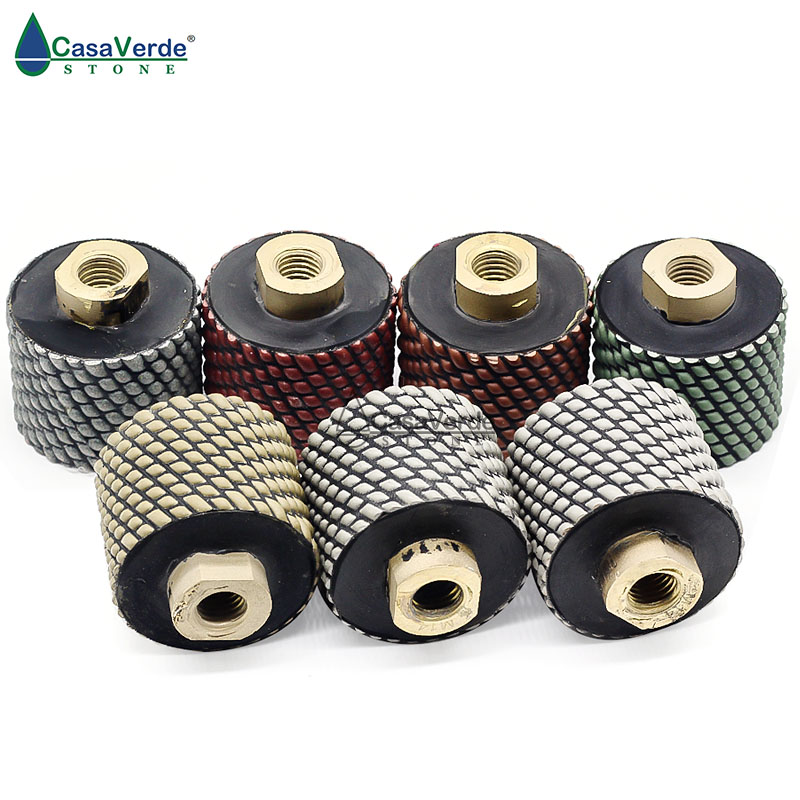 Free shipping dry diamond drum wheels 2 inch M14 thread for polishing and grinding sink hole