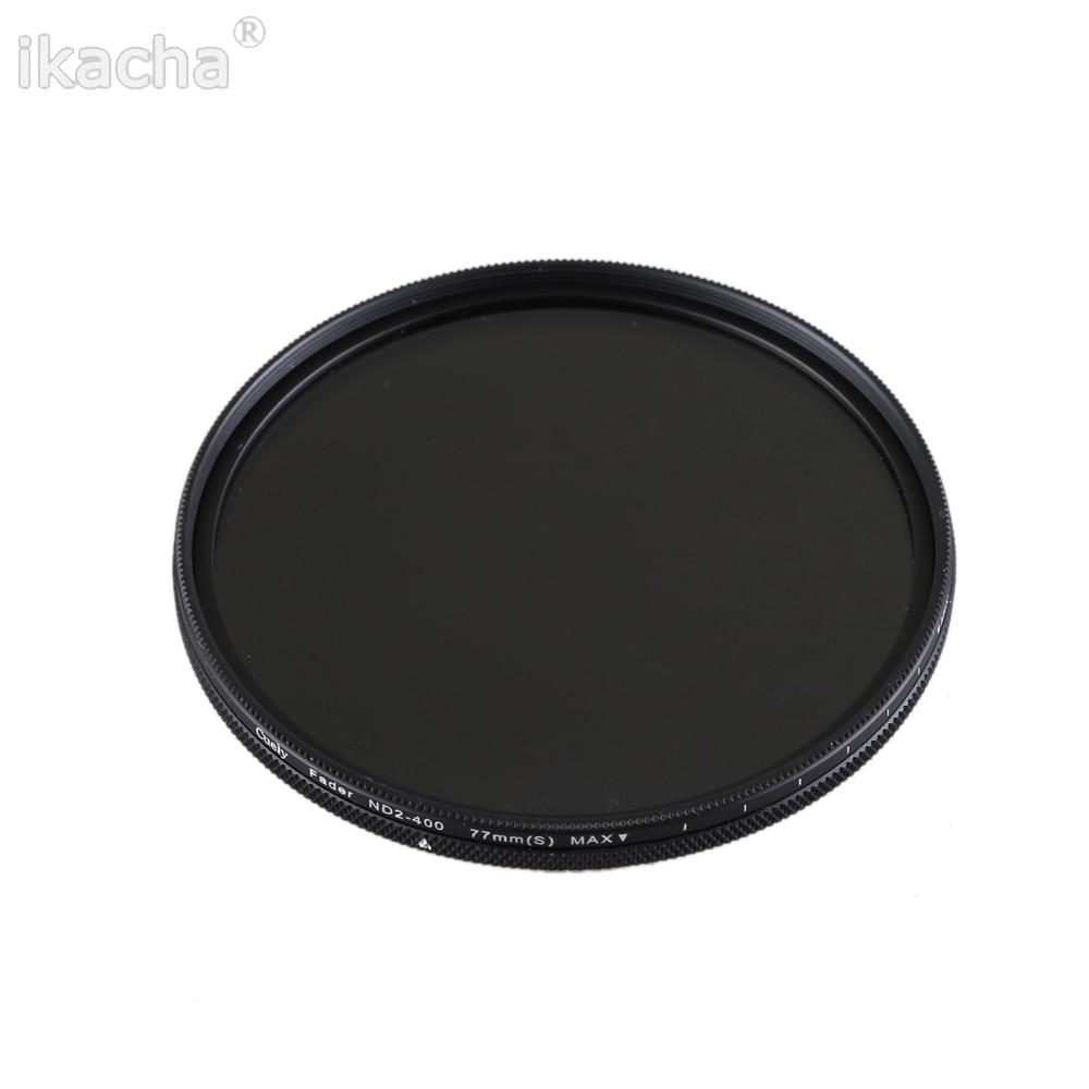 ND2-400 набор УФ-фильтров с нейтральной плотностью изменяемый фейдер ND Регулируемый фильтр 49/52/55/58/62/67/72/77/82 мм для цифровой зеркальной камеры Canon Nikon sony Pentex Камера
