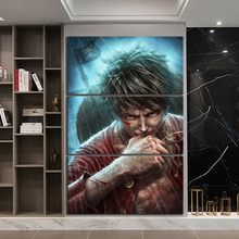3 Piece Wall Art Anime Poster Picture One Monkey D. Luffy Painting for Home Modern Decor Canvas Wholesale
