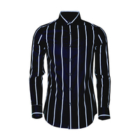 Classic Striped Men's Shirt 2019 Plus Size Slim Casual Cotton Shirts Long Sleeve Camisas Masculina Business Male Clothings