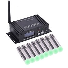 цены на 9 pcs DMX512 DMX Dfi DJ 2.4G LCD Wireless 8 Receiver & 1 Transmitter Lighting Control With Adapter  в интернет-магазинах