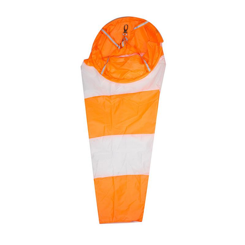 80/100/150 Cm Windsock Rip-stop Wind Measurement Sock Bag Waterproof Scale Airport Windsocks Winds Vane Orange And White