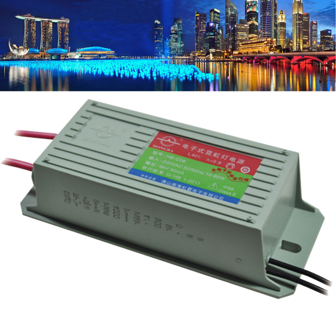 1pcs HB CO6 6KV  30mA 60W  Neon Electronic Transformer Neon Power Supply Rectifier-in Lighting Transformers from Lights & Lighting