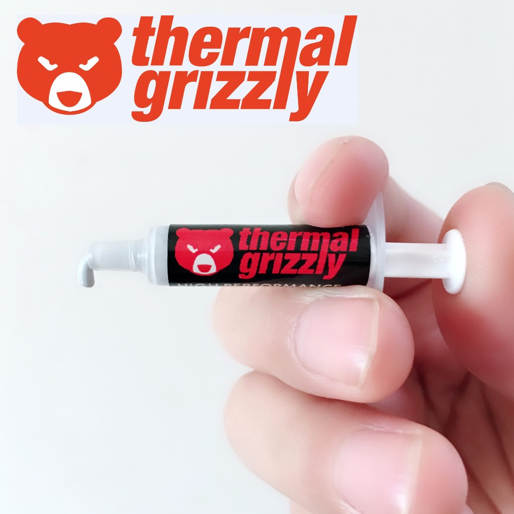 Thermal Grizzly Kryonaut 1g Processor graphics card CPU GPU heat sink Cooling Cooler Thermal Grease composite grease silica 5pcs professional mini high thermal conductivity thermal grease syringe convenient for cpu chip computer 1g